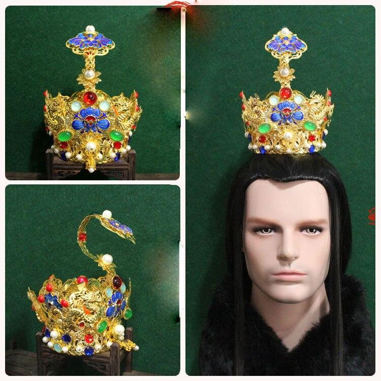 2 Designs Alte Chinesische Haar Tiara Prinz Lotus Blume Ruyi Tiara Duobao Pagode Tiara Hut Krone Für Königliche Hoheit