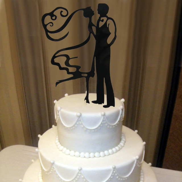 Wedding Decorations Funny: Acrylic The Bride Groom Funny Wedding Cake Decoration