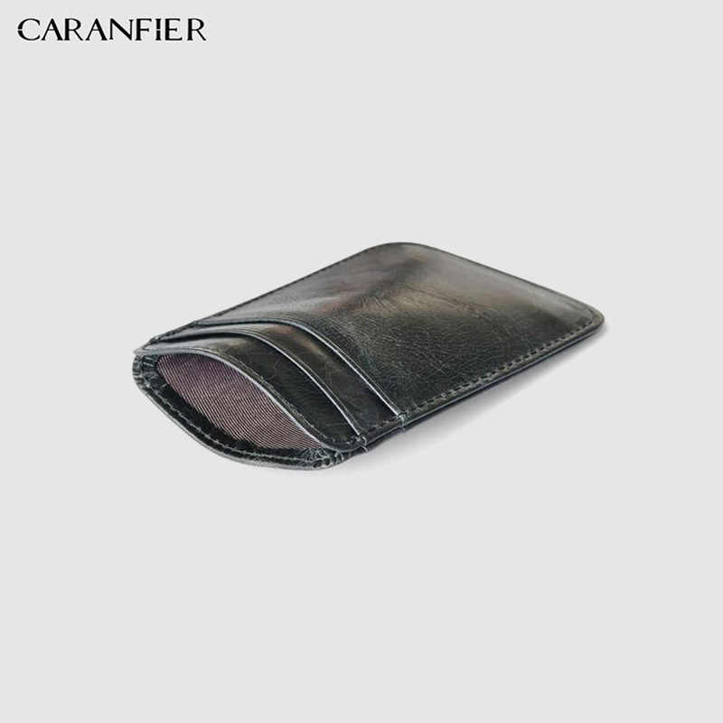 CARANFIER Mens กระเป๋าสตางค์ยาวกระเป๋า PU หนัง Ultra-thin ผู้หญิงกระเป๋า Unisex บัตรเครดิตชายธุรกิจกระเป๋าสตางค์