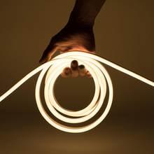 Tira de luz de led neon, ac 220v 230v 240v 2835 smd, tubo flexível neon, 120leds/m ip68 para iluminação decorativa interna e externa