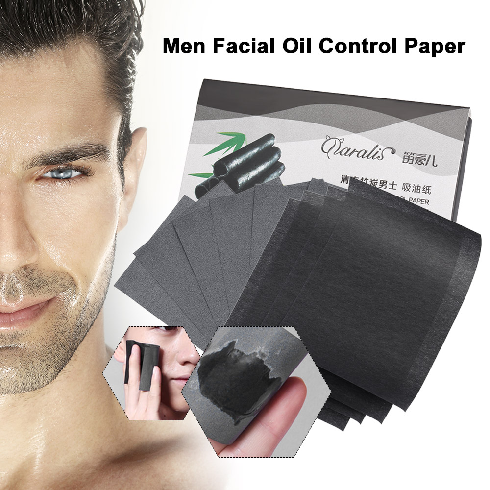 Daralis 80 Pieces Men Facial Absorbent Paper Farewell Oil Face Cleanser Deep Black Head Remover Acne Treatment Face Tools Beauty