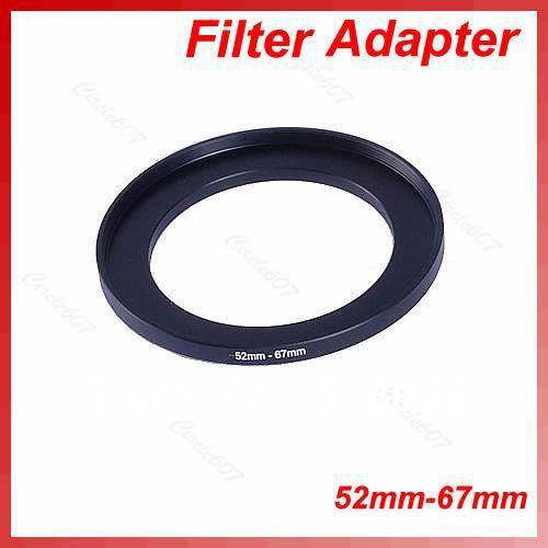 OOTDTY Metal 52mm-67mm Step Up Filter Ring 52-67 mm 52 to 67 Stepping Adapter