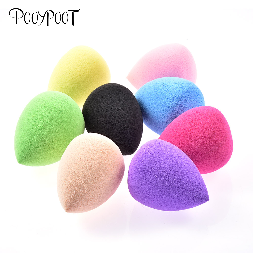Pooypoot 8pcs/set Makeup Sponges Cosmetic Puff Powder Foundation Puffs Smooth Sponges Make Up Tools Beauty Essentials