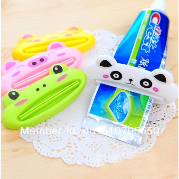 Bathroom Home Tube Rolling Holder Squeezer Easy Cartoon Auto Toothpaste Dispenser