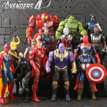 Avengers3 Infinity War Thanos Iron Spider Figure Spiderman Hulk Black Panther Iron Man Action Figure Toys For Children 18CM avengers 3 infinity war iron man spiderman thanos black panther groot plush toy action figure soft stuffed dolls for kids gifts