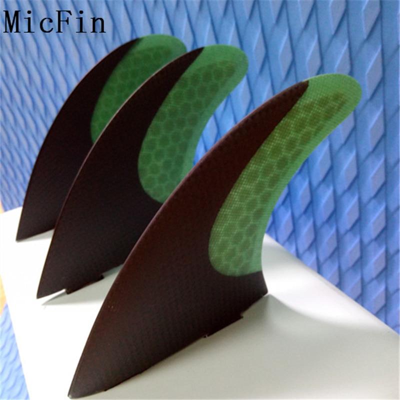 Aletas de tablas de surf de fibra de carbono Micfin Juego de aletas - Deportes acuáticos - foto 2