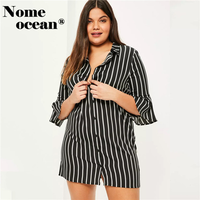 Plus size button front summer dresses