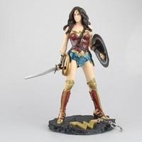 Anime Batman v Superman Super Heros Wonder Woman PVC Action Figure Collection Model Kids Toys Doll 26cm SHAF101