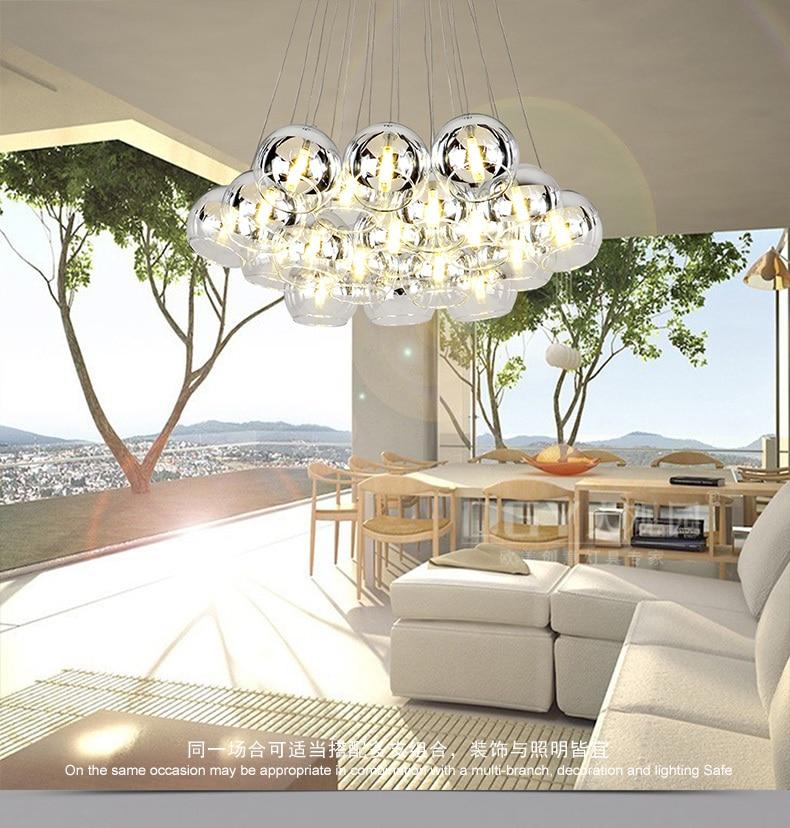 Aliexpress Kreative Viele Kpfe Glaspendelleuchte Wohnzimmer Schlafzimmer Lampe Ganglichter Blase Ball Pendelleuchte Personalisierten Restaurant