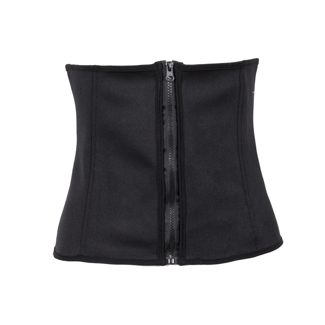 1438f9c1e007c 2019 New Brand Women Waist Trainer Latex Belt Zipper Body Shaper Zip Corset  Girdle Slim Belt