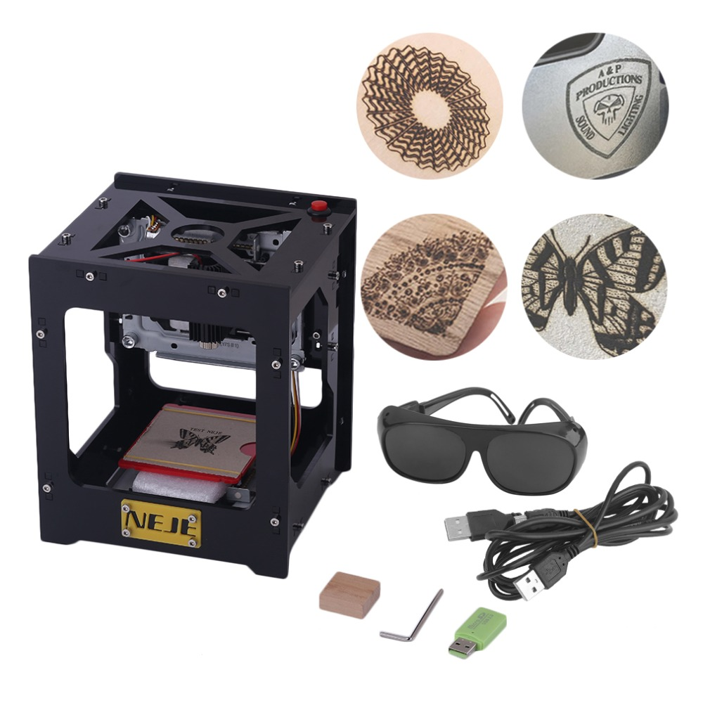 Professional CNC Engraving Machine 1000mW Automatic DIY Print Laser Engraver Machine with Off-line Operation 1000mw high speed mini laser cutter usb laser engraver cnc router automatic diy engraving machine off line operation glasses