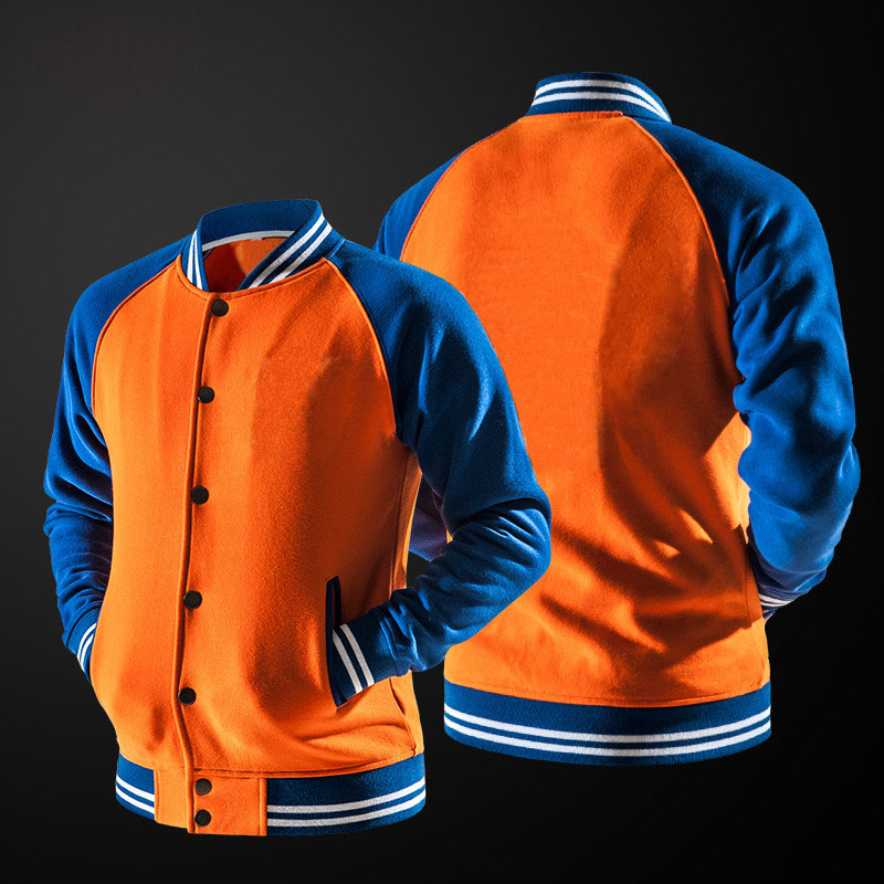 2019 Autumn Solid Jacket Male Orange Bomber Jacket Male High Quality Men Coat Casual Outwear Brand Hipster Men's Jackets M-XXL
