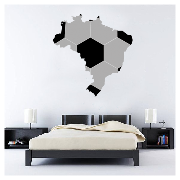 Aliexpress.com : Buy Map of Brazil Brasil soccer Wall Sticker ...
