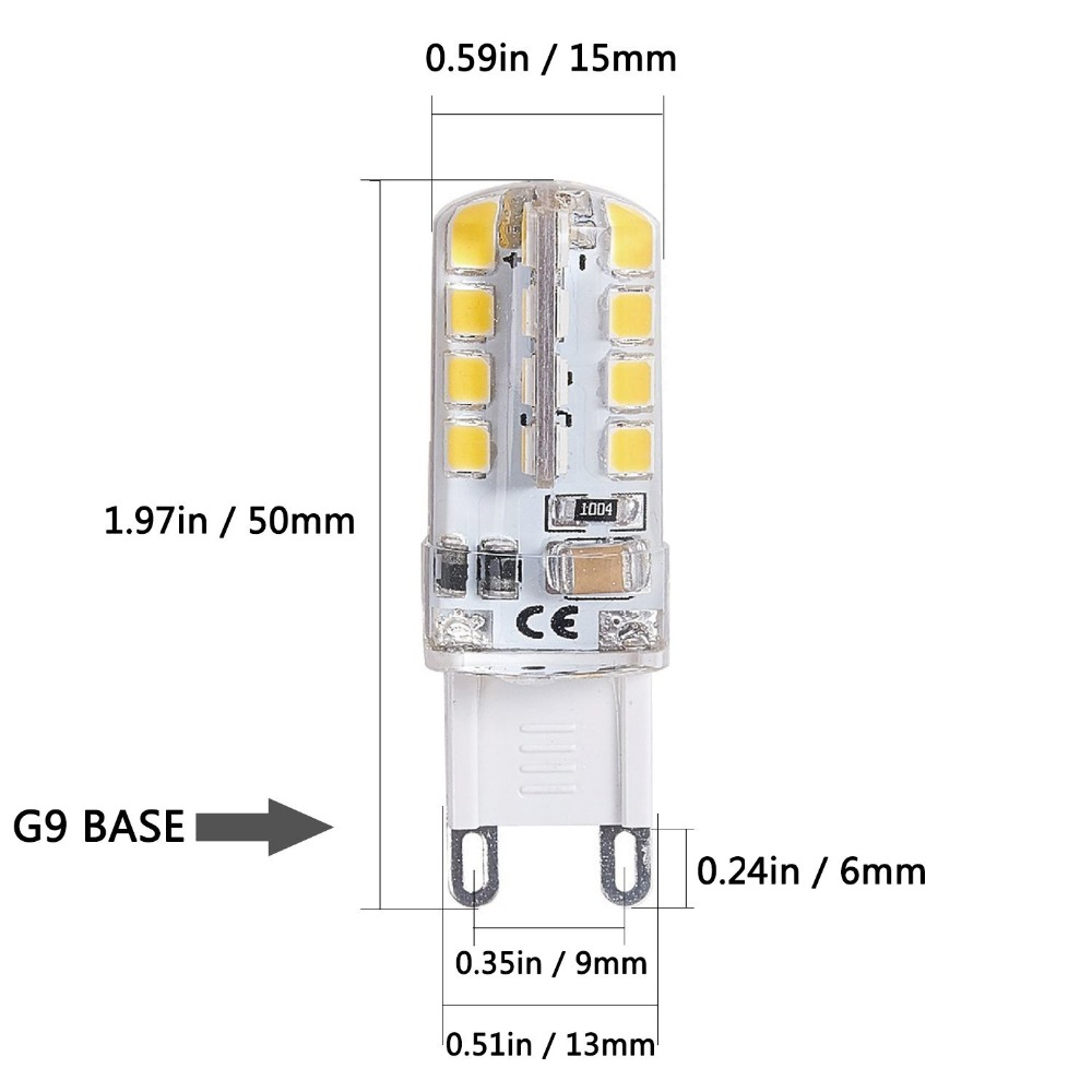 G9 LED Bulb G9 Base 32 LED Light Bulb Lamp 3W 360 Degrees Halogen Track Bulb Replacement ...