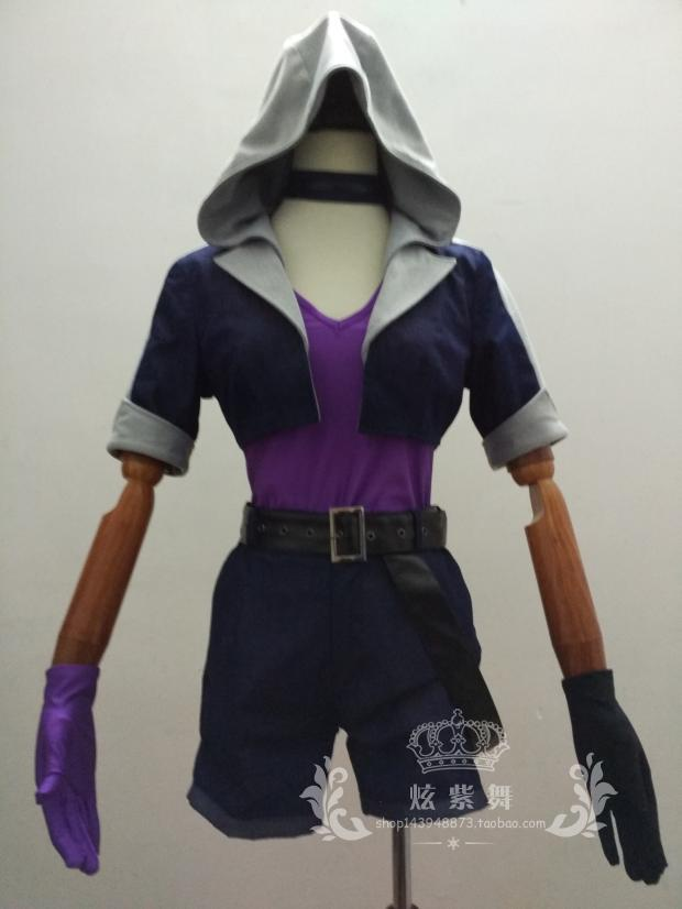 2012 The Loose Cannon Slayer Jinx Cosplay Costume Anime Custom Made Uniform image