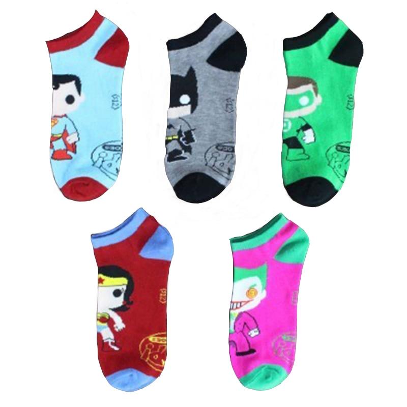 d12aa61775f Harajuku Adult Superhero Socks Comics Cosplay Stockings Superman Batman  Captain America The Punisher Deadpool Skate Socks