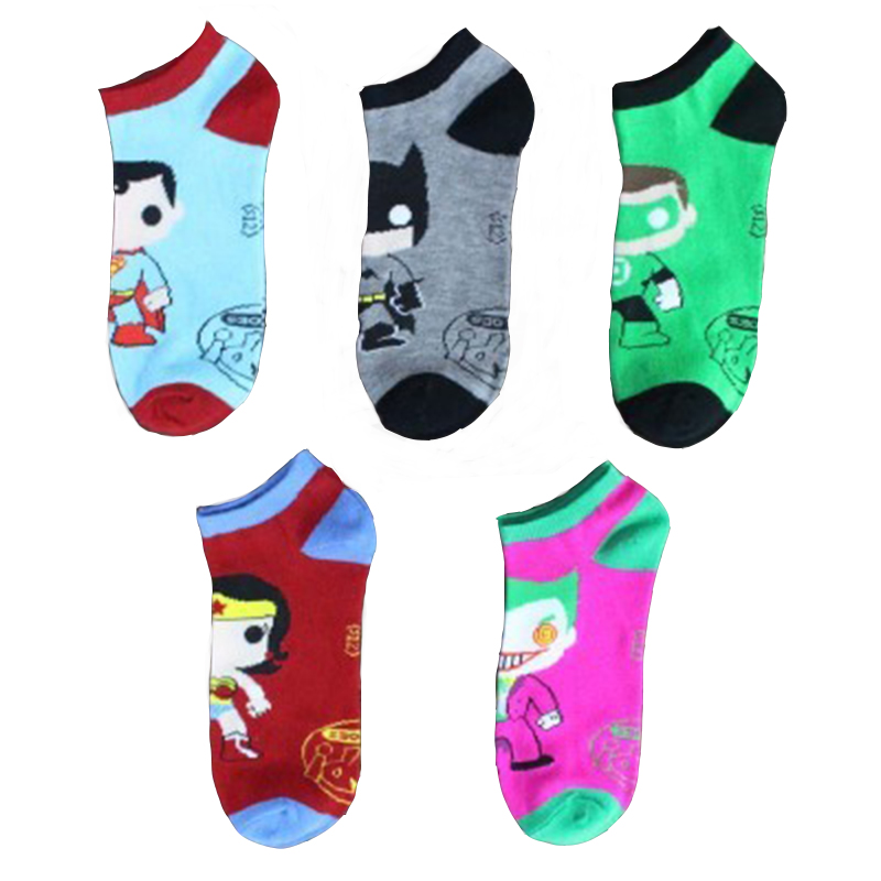 Harajuku Adult Superhero Socks Comics Cosplay Stockings Superman Batman Captain America The Punisher Deadpool Skate  Socks