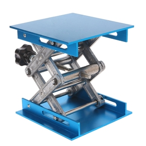 "Image 3 - 1 pc 4 ""x 4"" roteador de alumínio mesa elevador carpintaria gravura suporte de levantamento de laboratório rack"