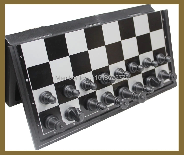 Potongan-potongan Permainan Catur Magnetik internasional Set Staunton Style Catur Koleksi Papan catur Lipat Portabel Catur Permainan