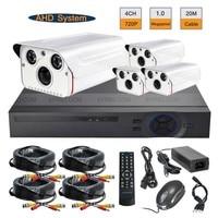 4CH AHD 720P Realtime DVR 1 0MP Array IR Outdoor CCTV Security Camera System