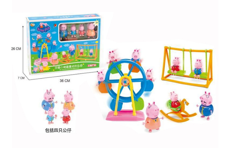 Peppaed Pig Toys PVC Action Figures Friends Suzy Emily Danny Rebacca Family Member Pig Toy Juguetes Baby Kid Gift Brinque peppa pig toys doll real scene model house pvc action figures family member toys early learning educational toys gift for kids
