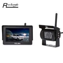 Wireless Monitory dla Parking z Tyłu Backup widok Z Tyłu Samochodu Kamera, 4.3 Cal LCD Screen Display, 18 IR LED Night Vision Camera