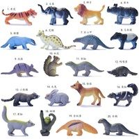 mini pvc figure toy model mini anteater sloth weasel lemur raccoon raccoon beaver squirrel 20pcs/set