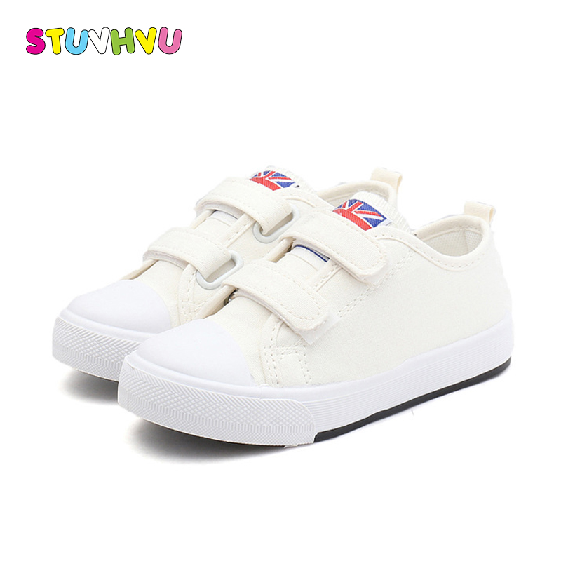 8d85ff673 New Solid Color Children Canvas Shoes Unisex Boys Girls Casual ...