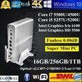 2016 Novo Chegada 16 GB de Ram 256 GB SSD de 1 TB HDD Windows Mini-pc Nuc intel core i7 i5 5500u 5257u gráficos htpc iris 6100 kodi 2 hdmi