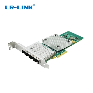 Image 1 - LR LINK 9714HF 4SFP Intel I350 F4 Compatible PCI Express Quad Port Gigabit Ethernet Network Adapter Card Fiber Optical Server
