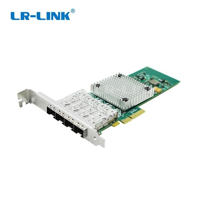 LR LINK 9714HF 4SFP Intel I350 F4 Compatible PCI Express Quad Port Gigabit Ethernet Network Adapter Card Fiber Optical Server
