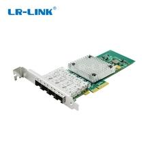 LR LINK 9714HF 4SFP Intel I350 F4 Compatible PCI Express Quad Port Gigabit Ethernet carte adaptateur réseau Fiber optique serveur
