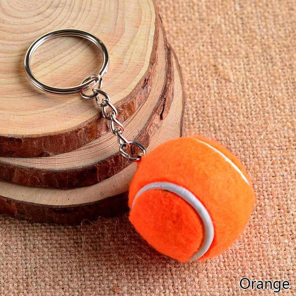 6 Color Pendant Tennis Rackets Keychain With Ball  Fashion Accessories Key Rings Souvenir Gift