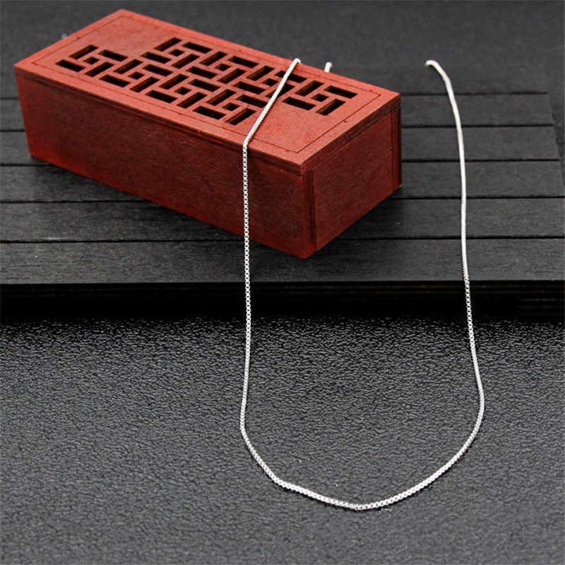 Hurtownie niska cena stal nierdzewna 316L 1.1MM Box Chain naszyjnik moda biżuteria dla kobiet mężczyzn Fit wisiorki długość 18-24 cali