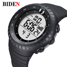 Biden relogio masculino relojes digitales hombres deportes 50 m impermeable militar de cuarzo dial grande relojes luminosos reloj masculino