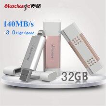 Maxchange 64GB USB Flash Drives OTG USB 3.0 High Speed Storage Flash Memory Pendrive U Disk 128GB 32GB Metal Memory Disk Gift