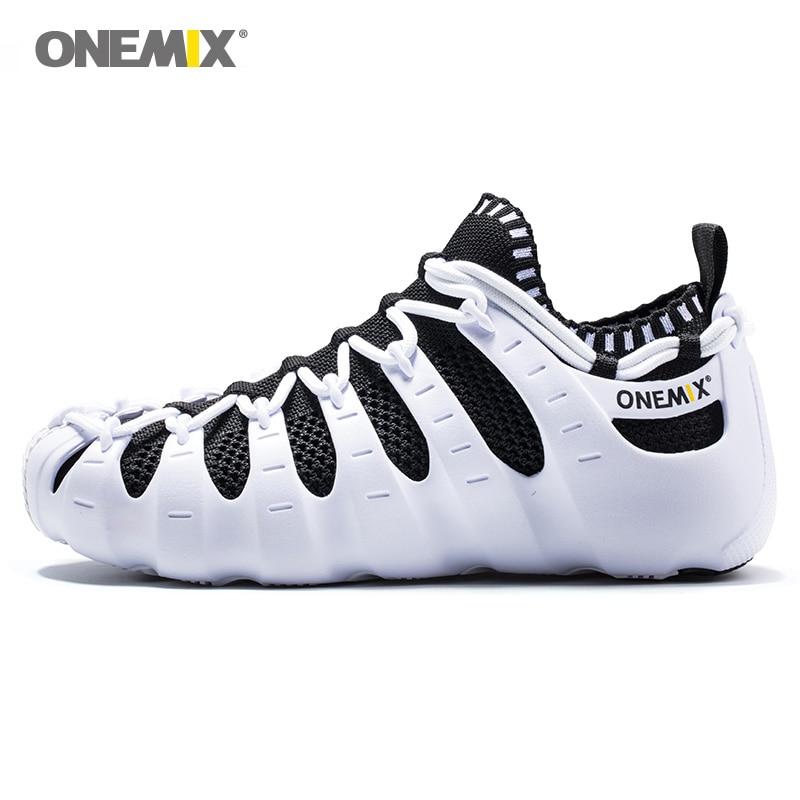 ONEMIX NEW Women Roma Walking Shoes For Men Outdoor Leisure Sandals Upstream Slippers Indoor Yoga Socks