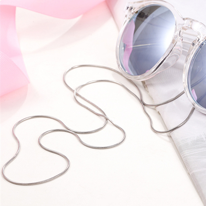 1Pc Colours Clear Beaded Eyewear Cord Reading Glass Neck Strap Eyeglass 24k gold plated Holder Cord Glasses Strapv SS2