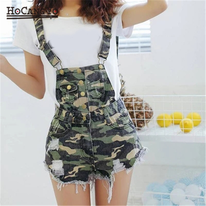 HCYO Jumpsuit Women Playsuits Denim Overalls for Womens Rompers Shorts Slim Casual Short Overalls Women Shorts Rompers Tracksuit