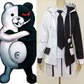Danganronpa Monokuma школьная форма косплей костюмы пальто + + юбка