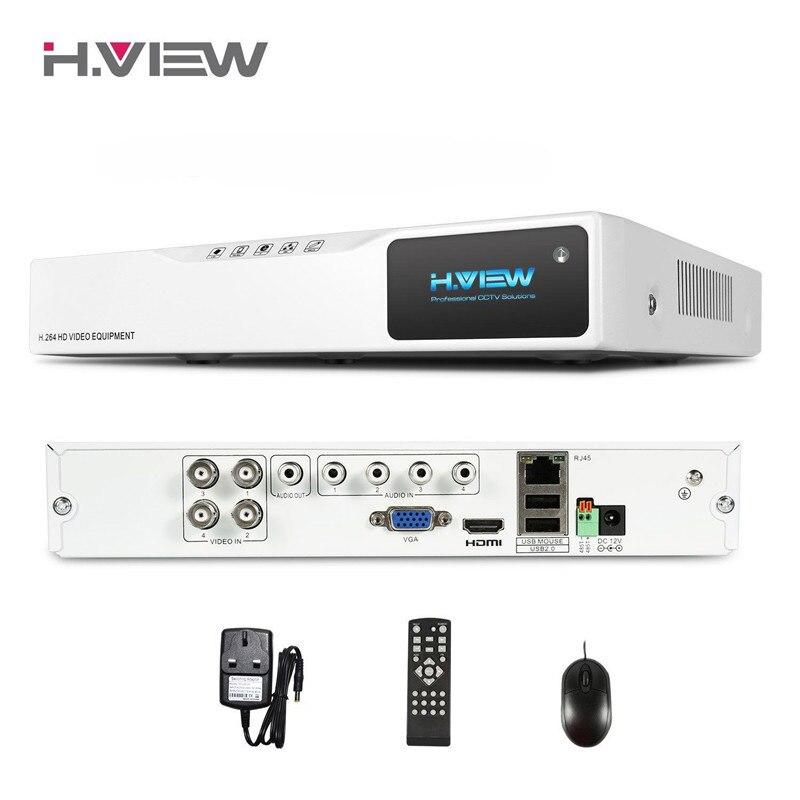H. VIEW 4CH AHD HD NVR Hot DVR 720 P CCTV Recorder Máy Ảnh Mạng 4CH DVR Video Giám Sát Ghi Đầu Vào âm thanh