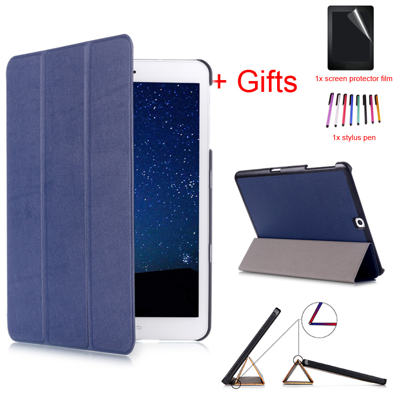 Slim Smart Case for Samsung Galaxy Tab S2 9.7 SM-T810 T813 T815C T819C 9.7inch Tablet Stand Cover With Auto Sleep/Wake +Film+Pen pu leather with card slots stand cute book cover case for samsung galaxy tab s2 9 7 inch tablet t810 t813 t815 t819 t819c t815c
