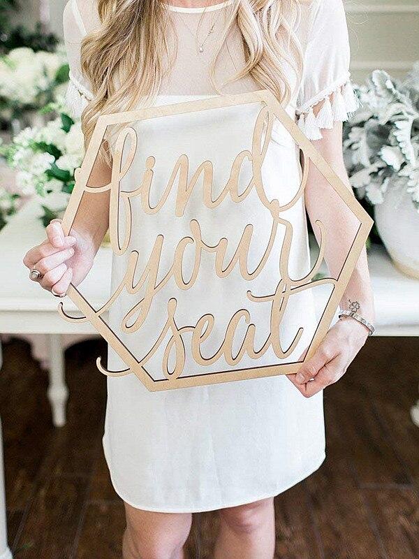 Vinden Uw Seat Escort Card Bruiloft Teken, Hexagon Of Cirkel Party & Event Zitplaatsen Grafiek Teken Moderne Boho Wedding Decor