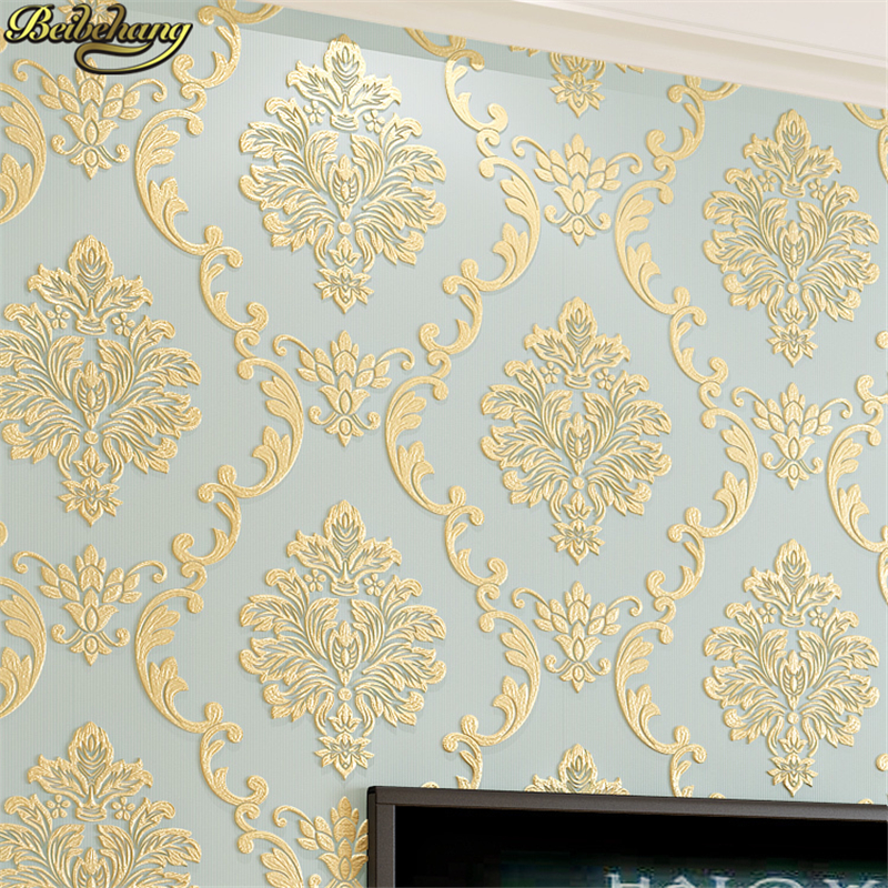 beibehang papel de parede 3D European Damask Floral wallpaper for walls 3 d wall papers home decor living room bed room flooring sexy beauty wallpaper for walls 3 d living room papel contact hotel wall covering murals 3d flooring wall paper home decor