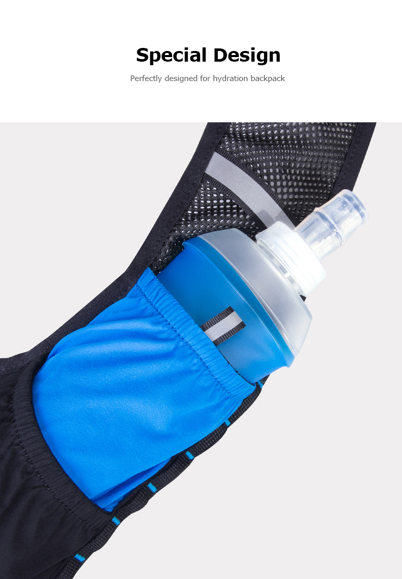 Foto of design water's flask folding TPU for sport. Collapsible flask of water 500ml for hiking