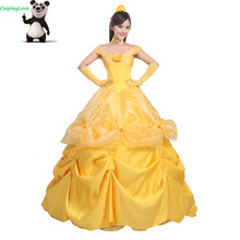 CosplayLove Custom Made Beauty And The Beast Belle Princess Yellow Long Dress  Cosplay Costume For Halloween b5ee8ceee3e4