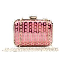 Lujo Ahueca Hacia Fuera el Cristal de Tarde Del Embrague Bolsos de Las Mujeres Famosas Marcas de Hombro Del Bolso de La Boda Bolso de Crossbody Bags Pink Lolita