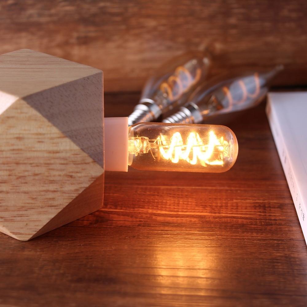 Купить с кэшбэком T25 T6 Dimmable  led bulb  Tubular Spiral Edison LED Filament Light Bulb 3W 2200K E12 E14 220V Retro Vintage Lampada Lamps