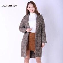 0c827ad4a40 Ледивосток Шерстяное пальто Демисезонное Женская модная куртка Европейский  стиль Весна Кашемир Верхняя одежда 8821(China