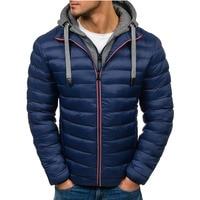 ZOGAA Man Winter Jacket Coats Casual Thick Men Hooded Coats Streetwear Winter Coat Men Clothes Winter Parkas